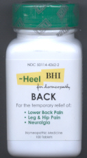 Click for details about Back Pain  by BHI  100 tablets