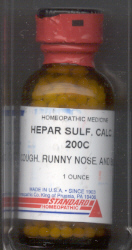 Click for details about Hepar Sulphur 200C 1 oz bottle with 680 pellets
