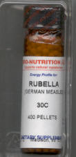 Click for details about Rubella German Measles 30C 400 pellets