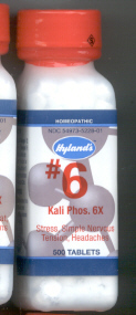 Click for details about Kali Phos #6 Potassium  6X 1000 tablets 10%  SALE!